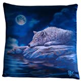 'lobo' diseño lobo cojín Lisa Parker