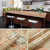 Feuille De Meubles Brillant Autocollant Cuisine Salle De Bain Placard Sticker Mural Adhésif Décoration En Feuille Vin Rouge 60cm * 5M