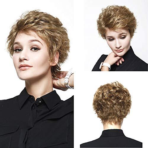 (❤️LCLrute Kühle kurze Rose net volle Spitze blonde synthetische Haar Perücke Mode Kostüm Perücken)