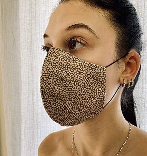 Mascherina Unisex Lavabile 100% cotone stile pelle tapiro