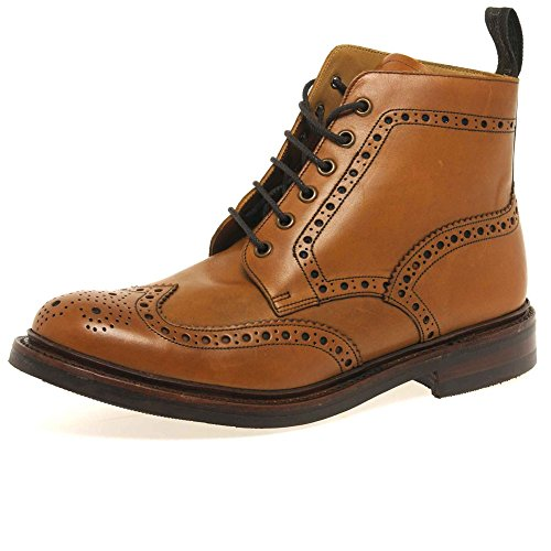 loake-bedale-tan-brogue-cuir-bottes-a-lacets-made-in-england-uk-9-marron