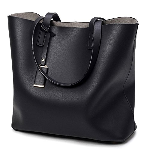 Damen Handtasche Elegant Taschen Shopper Reissverschluss Frauen Handtaschen TrendStar Frauen Taschen Dameart und weise Tragebogenrahmen Entwerfer neu (Schwarz) (Das Fall, Dass Gepäck Gurt)