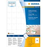 Herma 8046 Anhänger (reißfest A4 Papier/Folie/perforiert nicht klebend, 35 x 59,4 mm) 3000 Stück weiß