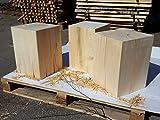 LifeStyle4All Holzklotz Linde Massiv 30x30x42 Vollholz Hocker Dekosäule Holzblock Holzsäule Beistelltisch (ungeölt)