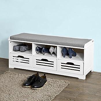 schuhbank schuhschrank udine in wei mit 2 klappt ren mit schuhfach in doppelreihe. Black Bedroom Furniture Sets. Home Design Ideas