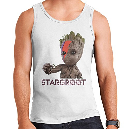 Guardians Of The Galaxy Ziggy Stargroot Baby Groot Men's Vest White