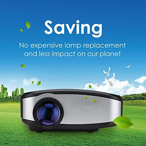PYXZQW Beamer Projektor Wireless WiFi Video DIWUER Projektor + 50% Heller Full HD 1080P Tragbare Unterstützung Airplay Mira-cast für Heimkino-Spielfilme,B