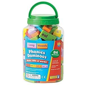 Educational Insights- Fichas de dominó phonics con las vocales largas de Learning Resources, Color EI-2941)