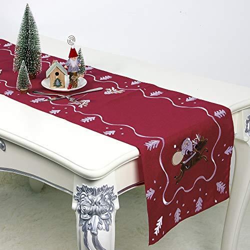 Halovie runner da tavolo natale tovaglia decorazioni natalizie per natale casa hotel feste decorazione 40 * 180 cm rosso