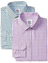 Excalibur by Unlimited Men's Plain Regular Fit Formal Shirt (Pack of 2)