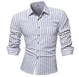 Luckycat Persönlichkeit der Männer Striped beiläufige dünne Lange Hülse gedrucktes Hemd Spitzenbluse Mode 2018