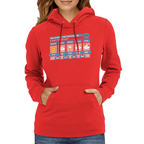 Texlab Mushroom Kingdom Weather Forecast - Damen Kapuzenpullover, -