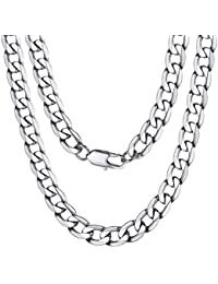 34aea55ef73 ChainsPro Bijoux Collier Homme Chaîne Maille Gourmette-Largeur  4MM 6MM 9MM 13MM