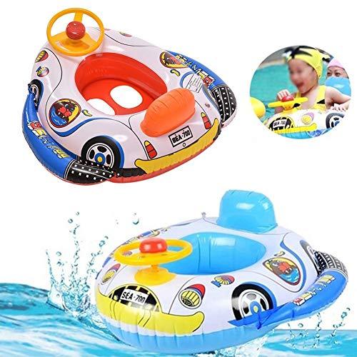 Baby Pool schwimmt Kinder Schwimmring Aufblasbarer Sitz Boot Schwimmen Auto Form mit Lenkrad für Kinder