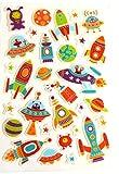 Nave Espacial, Cohete & Alien Pegatinas - Niños/Infantil Etiquetas Para Fiesta Bolsas, SCRAP Libros, FABRICACIÓN DE TARJETAS O Cuaderno Decoración