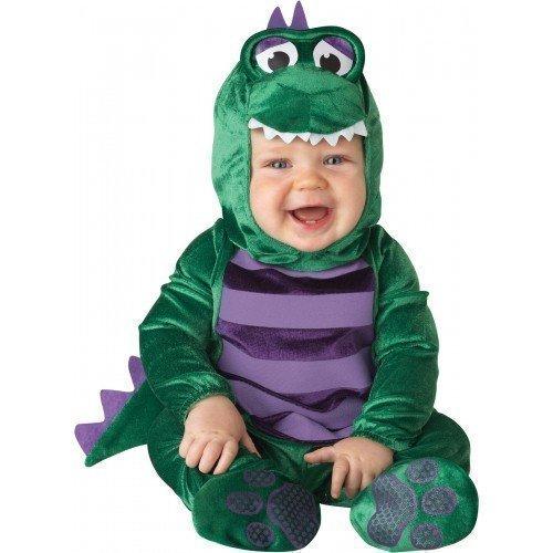 Baby Kostüm Deluxe Baby Jungen Dinky Dinosaurier Tiere Halloween Verkleidung Outfit - Grün, EU (Jungen Kostüme Dinosaurier)