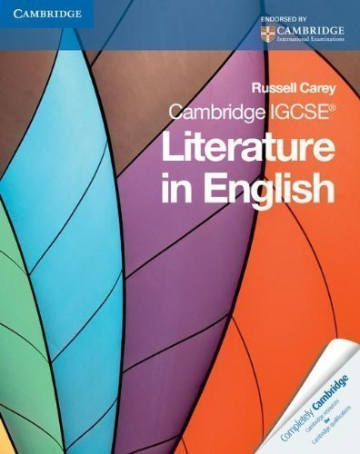 Cambridge IGCSE Literature in English (Cambridge International Examinations) by Carey, Russell (2011) Paperback