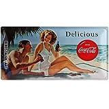 Nostalgic-Art 27006 Coca-Cola - Beach Couple, Blechschild 25x50 cm