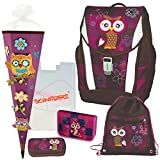 Olivia The Owl Eule Schulranzen Set TOOLBAG Soft Schneiders u. Federmappe Schultüte 6tlg. - 78405-051