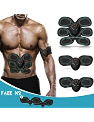 EMS Muscle Stimulator, Waitiee Electronic Abdominal Muscle Toner Machine trainer, Smart Wearable Home Ab Toner abs trainer For Men Women Weight Slimming