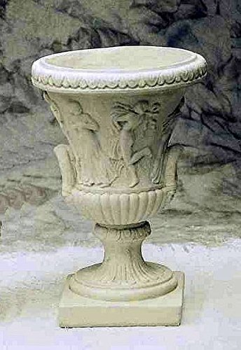 pompidu-living Vase Renaissance, Amphore, Blumentopf, Pflanzkübel, Topf, Stein, groß Farbe Terracotta - Renaissance-vase