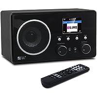 Ocean Digital Internet Radio WR282CD Bluetooth con DAB / DAB + / FM e WiFi WLAN Wireless legno Desktop Player di musica 2.4 'LCD Display a colori - in legno