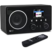 Ocean Digital WR282CD Radio de Internet WiFi con DAB / DAB + / FM y Bluetooth receptor de escritorio de madera Media Player-Negro