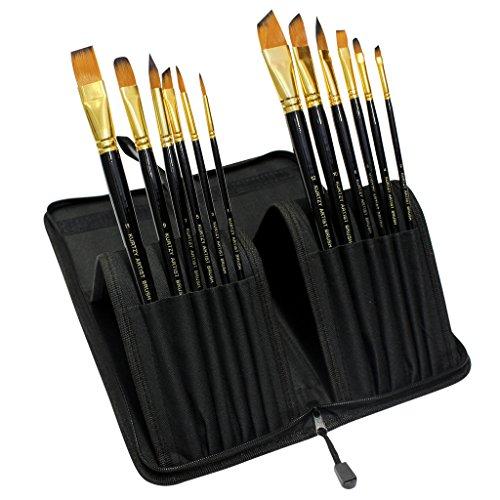 kurtzytm-set-da-12-pennelli-per-pitture-acriliche-acqua-gouche-completo-di-custodia-con-cerniera