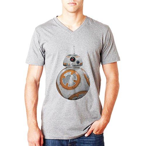 BB8 Robot Star Wars Herren V-Neck T-Shirt Grau