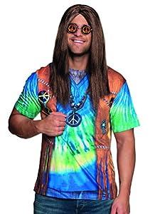 Boland-Camiseta fotorealistica Hippie Peace Man Mens, multicolor, L, 84294