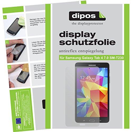 dipos I 2X Schutzfolie matt passend für Samsung Galaxy Tab 4 7.0 Folie Bildschirmschutzfolie