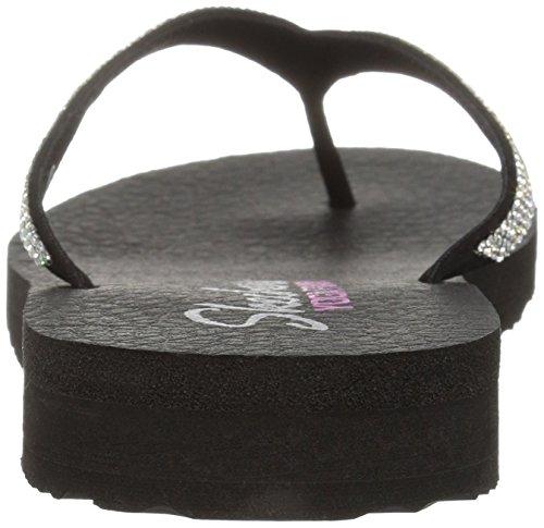 Skechers Meditation-Chill Vibes, Tongs Femme Noir (Black)