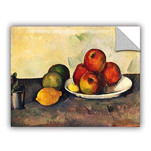 ARTWall Kunstdruck auf Leinwand Paul Cezanne Kunst der Stillleben mit Äpfeln appeelz abnehmbarer Graphic Art Wand 24x32 (Äpfeln Cezanne Stillleben Mit)