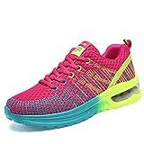 Moonwalker Zapatillas De Deportes para Mujer Gimnasio Correr (EUR 38 ,Fucsia)