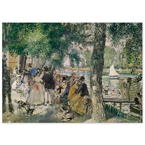 JUNIWORDS Poster, Pierre Auguste Renoir, Baden in der Seine, Badende in La Grenouillère, 110 x 80 cm