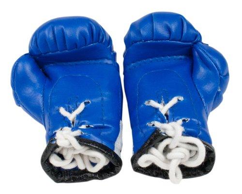 Starlite Boxing Mini Boxhandschuhe zum Aufhängen am Autospiegel blau