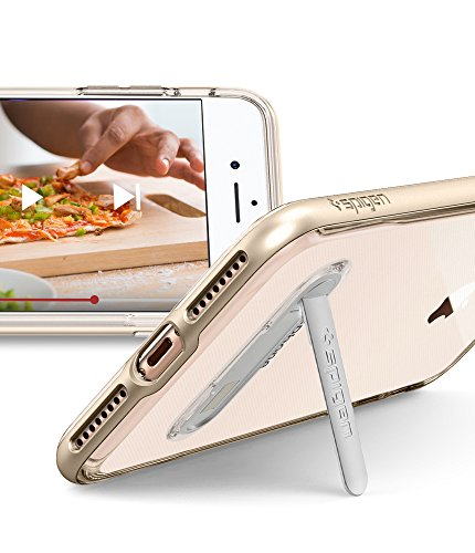 Spigen iPhone 7 Plus Case Crystal Hybrid 5.5 Cover Oro, Trasparente Oro