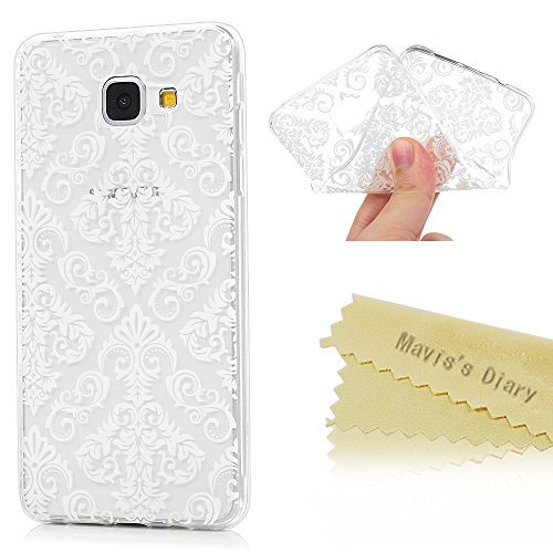 Crystal-kristall-palast (Handyhülle für Samsung Galaxy A5 2016 Hülle TPU Silikon Crystal Handyhülle Schutzhülle Mavis's Diary Back Cover Schale Etui Bumper Protective Case Back Cover Rück Anti-Kratzer Weiß Palast-Blumen)