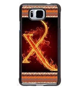 Printvisa 2D Printed Alphabet X Designer back case cover for Samsung Galaxy Alpha- D4214