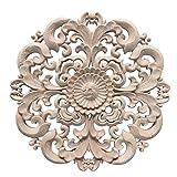 Pinji Madera Tallada Redonda Applique Decorativo de Estilo Europeo #2