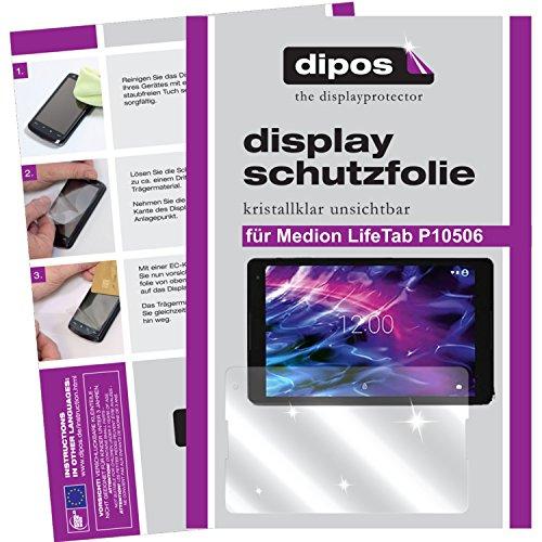 dipos I 2X Schutzfolie klar passend für Medion LifeTab P10506 Folie Bildschirmschutzfolie