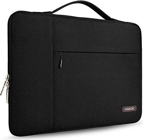 HSEOK 13-13,3 Zoll MacBook Air/Pro Aktentasche Laptop Handtasche Hülle Tasche, Stoßfeste Wasserdicht PC Sleeve für die meisten 14 Zoll Notebook UltraBook Tablet Dell/HP/Lenovo/Acer/Ausu, Schwarz III