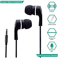 Zoyo In-Ear Headphone With Mic / Earphone With Mic Super Extra Bass - Black