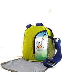 055486617931 EarthVibe Combo Lunch Tote Bag Free Mat Insulated Zipper Handle Waterproof  Bottle Holder-Green