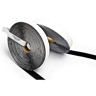 Purovi Haken und Klettband, feste Befestigung, schwarz, 5m lang - 20mm breit