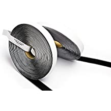 5m Velcro , Gancho y Velcro , 20mm Ancho con adhesivo color Negro