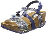 Desigual Shoes_bio9 Mosaic, Sandalias de Talón Abierto para Mujer, Azul (5043 Moonlight Blue), 37 EU