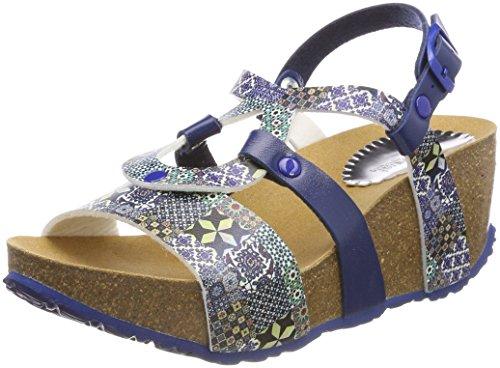 Desigual Shoes_bio9 Mosaic, Sandalias de Talón Abierto para Mujer, Azul 5043 Moonlight Blue, 41 EU...