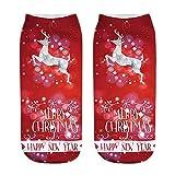 Weihnachten Drucken Dicker Warm Damen Herren Socken Anti-Rutsch Fußboden Socken Teppich Socken