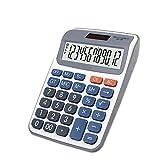 Yishelle Calculadora de Escritorio Calculadora de Oficina de Escritorio Calculadora de Pantalla Solar de 12 bits y Potencia Dual para Oficina y Uso Comercial